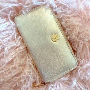 Gold Tory Burch Wallet